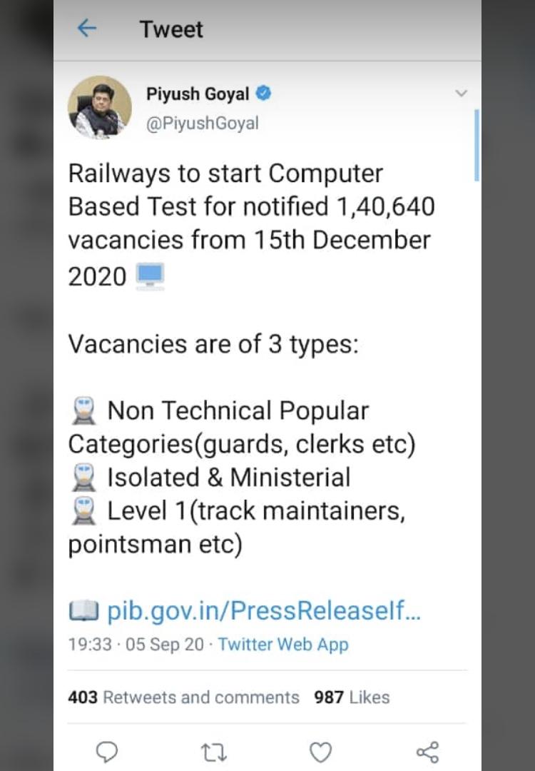 Railway ntpc d group exam date