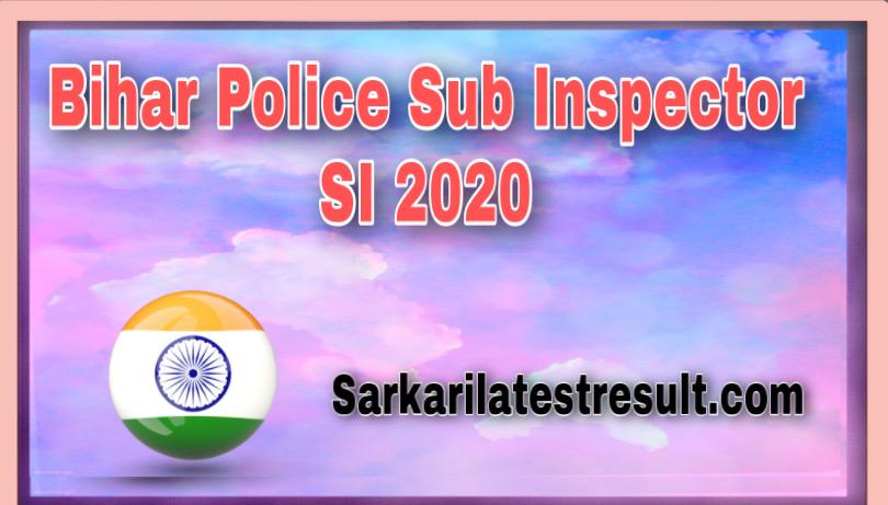 Bihar Police Sub Inspector SI Mains Postponed 2020