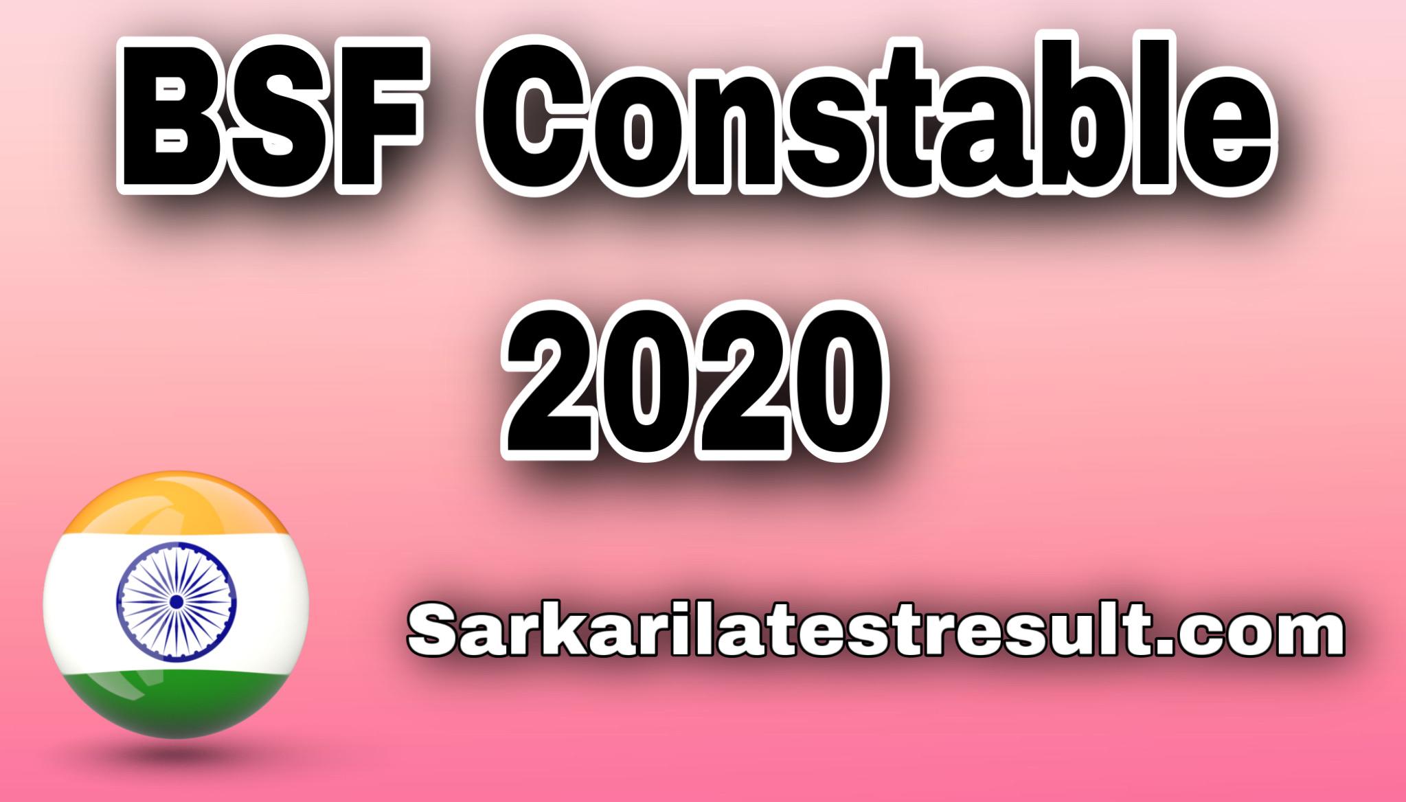 BSF Constable Tradesman Online Form 2020