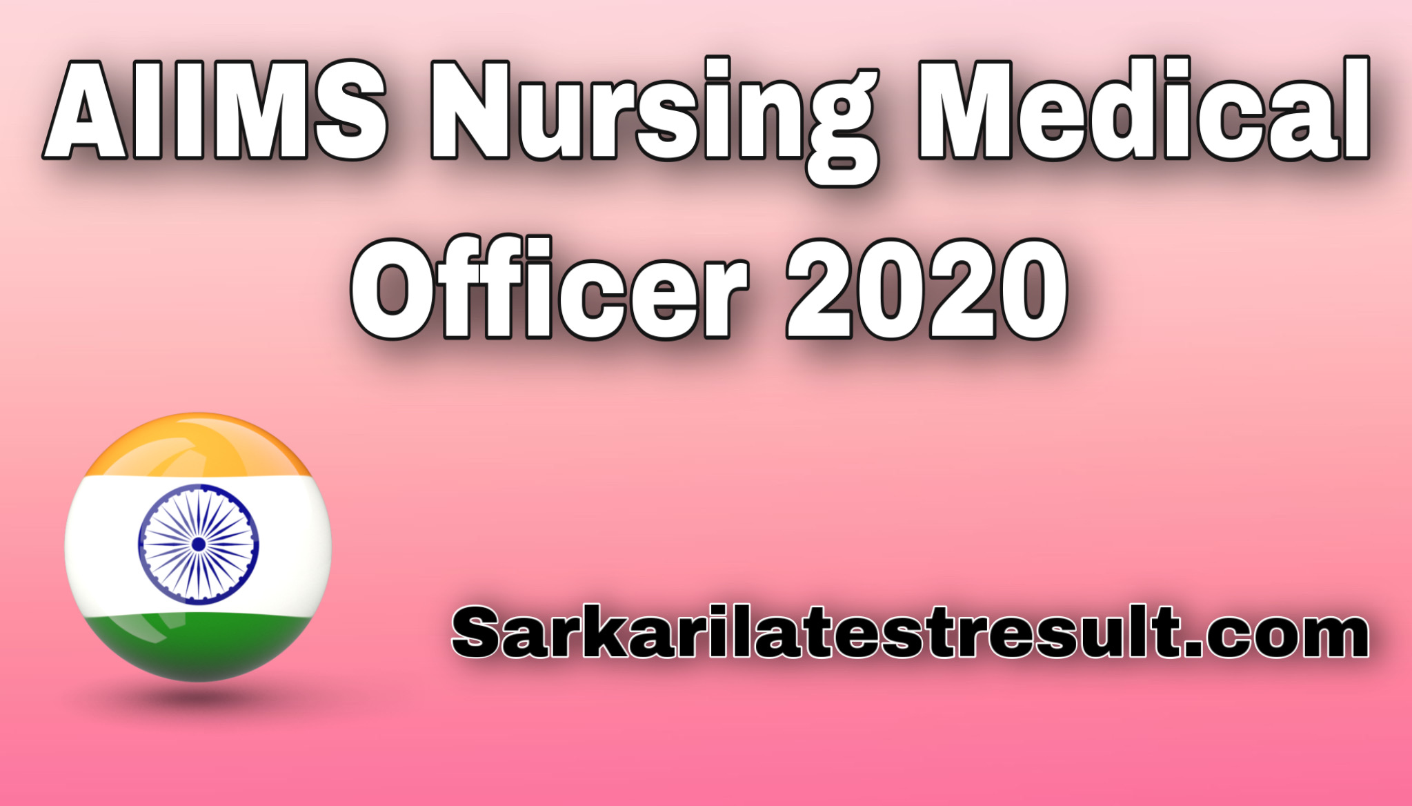 AIIMS Nursing Medical Officer Result 2020