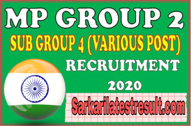 MP PEB Group 2 Sub Group 4 Admit Card 2021