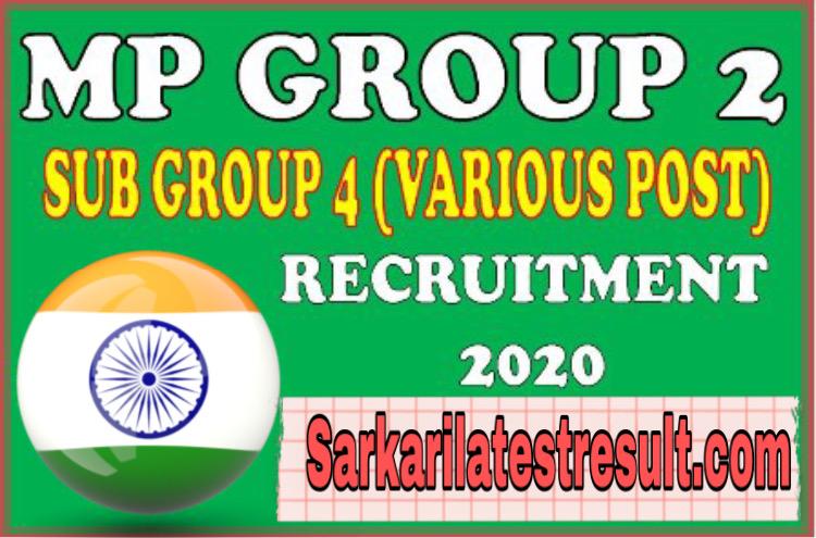 MP PEB Group 2 Sub Group 4 Admit Card 2021